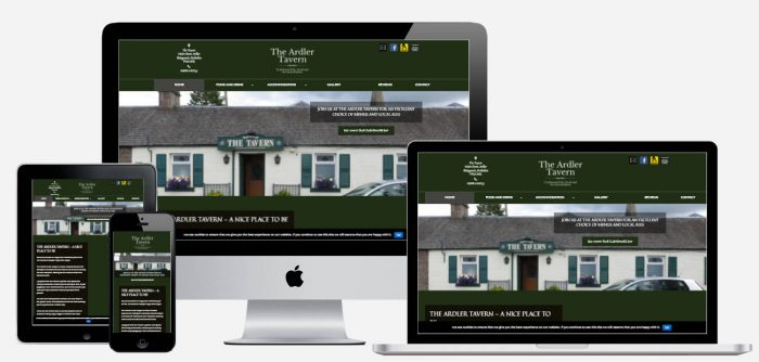 Ardler Tavern Mock Website | Dundee and Angus Web Design | Wolfberry Media