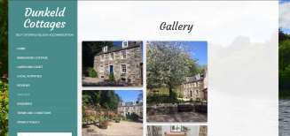 Dunkeld Cottages Gallery Screenshot | Perthshire Web Design | Wolfberry Media