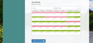Dunkeld Cottage Booking Calendar | Web Design Perth | Wolfberry Media