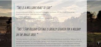 Web Design Angus, Scotland | Wolfberry Media | Gardean Cottages