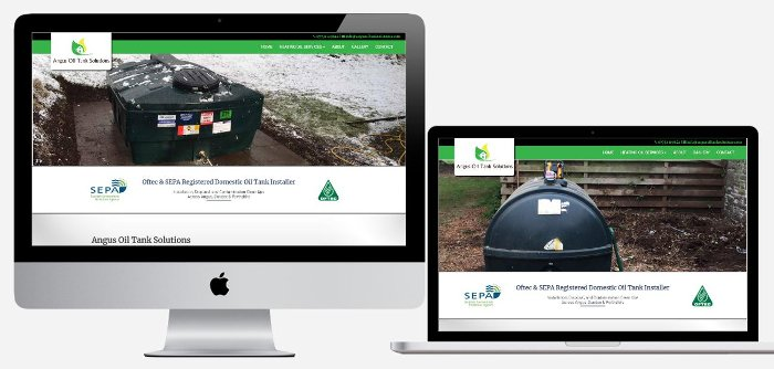 Angus Oil Tank Solutions | Website Design Angus