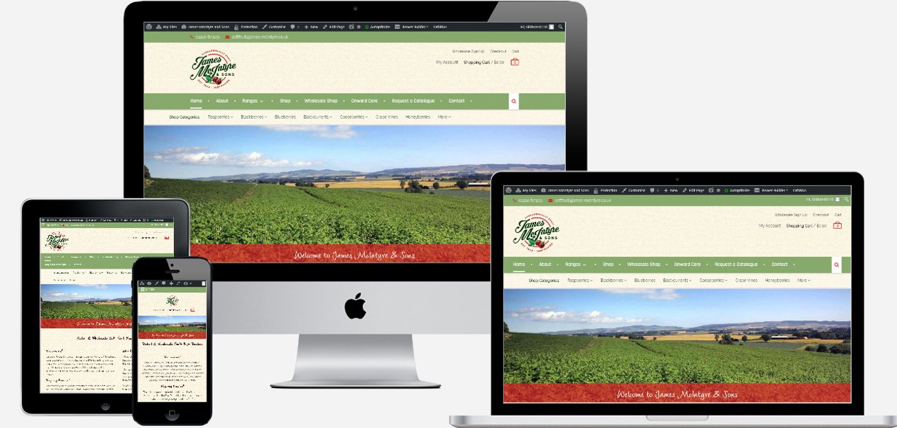 James McIntyre & Sons eCommerce Website | Blairgowrie, Perthshire
